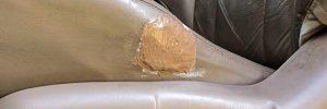 failed DIY leather seat repair